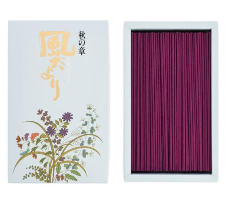 Japanese Incense Sticks | Nippon Kodo | Kazedayori Autumn (Oak Moss) | 360 Boxed | Low Smoke