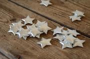 Dekorative Sterne in Silbergrau 3 cm