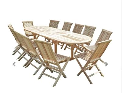 Salon de jardin en teck et ses 12 chaises
