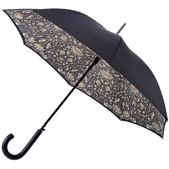 Morris & Co Bloomsbury Ladies Double Canopy Walking Length Umbrella - Lodden Pure