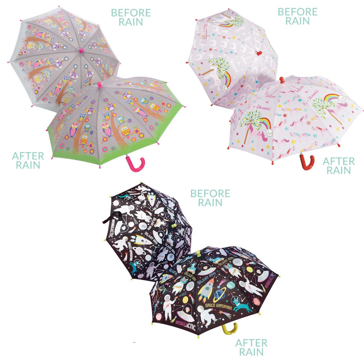 Floss & Rock Colour Changing Children's Umbrellas